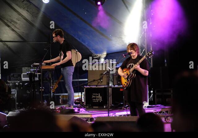 Henham Park, Southwold, Suffolk, UK. 17th July, 2015. SOAK open the Latitude Festival 2015 on the Radio 6 stage - Stock Image