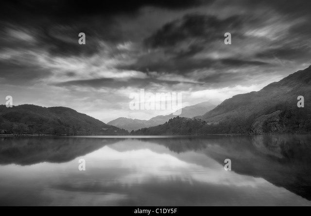 Snowdonia lake - Stock Image
