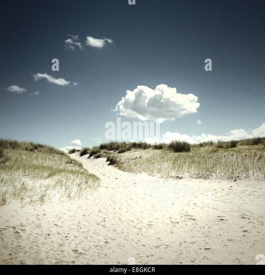 Scenic view of empty beach - Stock Image