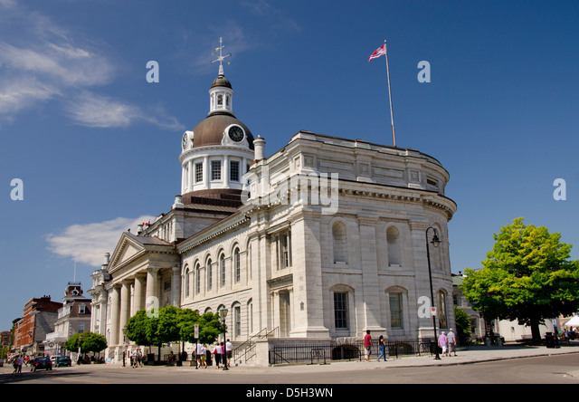 Canada, Ontario, Kingston. Downtown Kingston City Hall, National Historic Site, c. 1842. - Stock Image