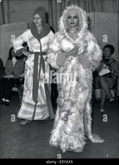 Sep. 24, 1969 - Models in Robes: Mongolian Print and Rabbit Fur - Stock Image
