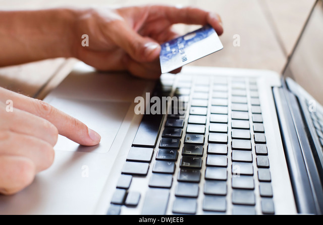 pay online - Stock Image