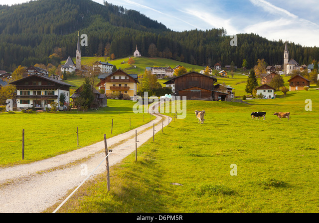 Gosau, Salzkammergut, Austria, Europe - Stock Image