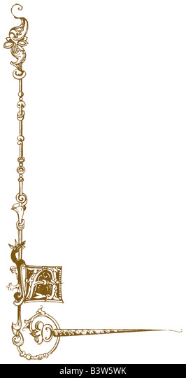 Border with initial letter 'A' - Stock Image
