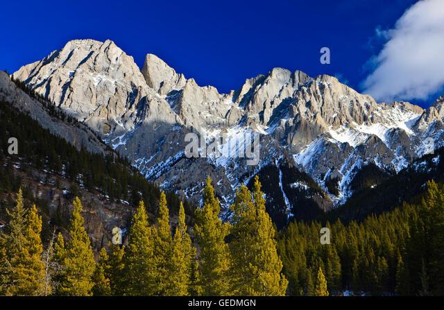 geography / travel, Canada, Alberta, 82 km SW of Calgary, Mount Blane (2993 metres/9819 feet) part of the Opal Range, - Stock Image