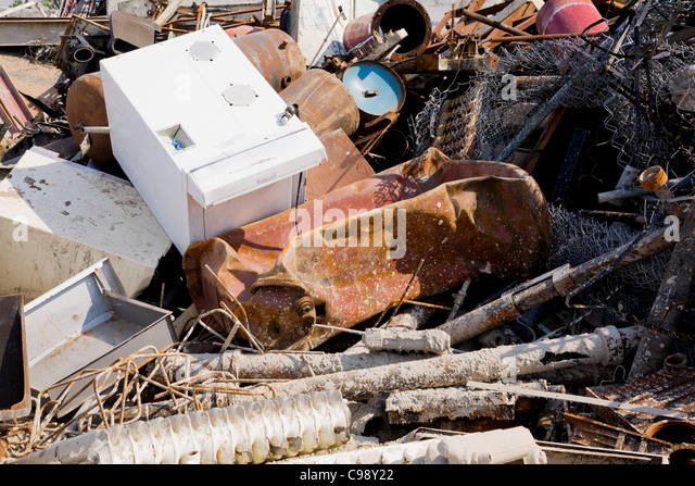 Scrap yard - Stock Image