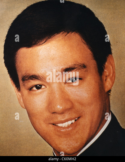 BRUCE LEE (1940-1973)  Chinese-American actor and martial arts expert - Stock-Bilder