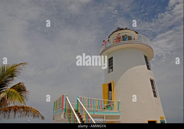 Bahamas Lighthouse Pearl Island off New Providence Nassau - Stock Image