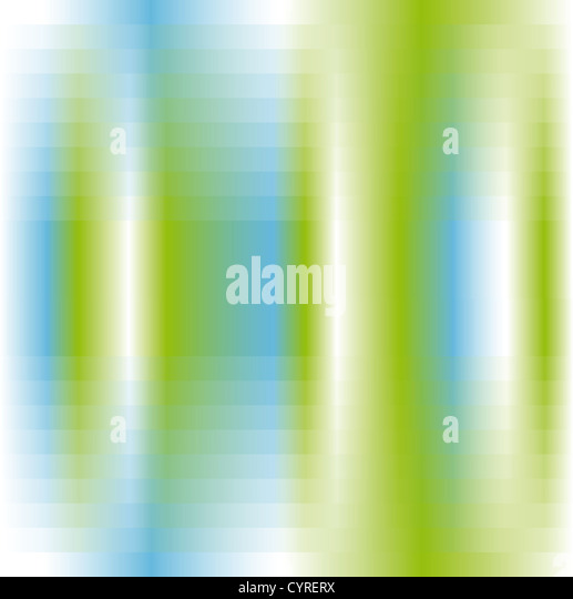 abstract background in green white and blue - Stock Image