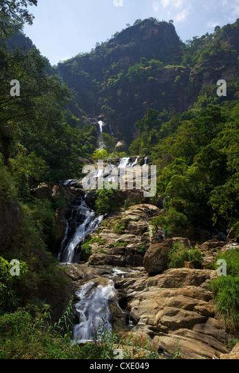 Rawana Ella Falls, Sri Lanka, Asia - Stock Image