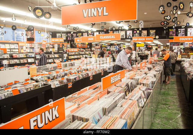 Real Groovy Records on Queen Street, Auckland,North Island,New Zealand,Pacific, - Stock Image