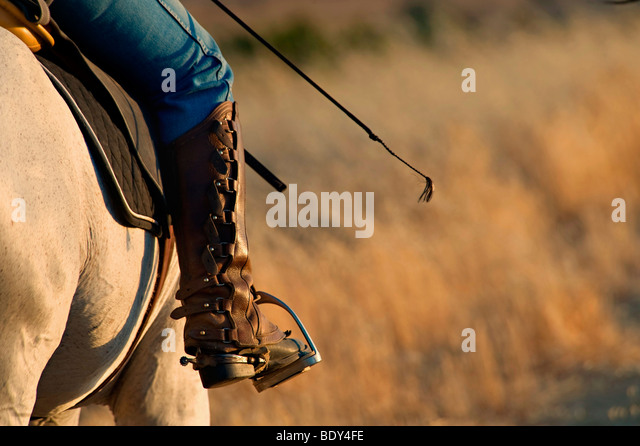 Equestrian Riders Boot and Stirrup - Stock Image