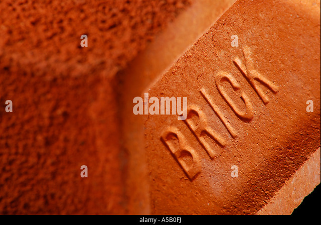 A close-up of a Brick. Picture by Patrick Steel patricksteel - Stock Image