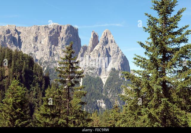 Schlern, Seiser, Alm, Dolomiten, - Stock-Bilder