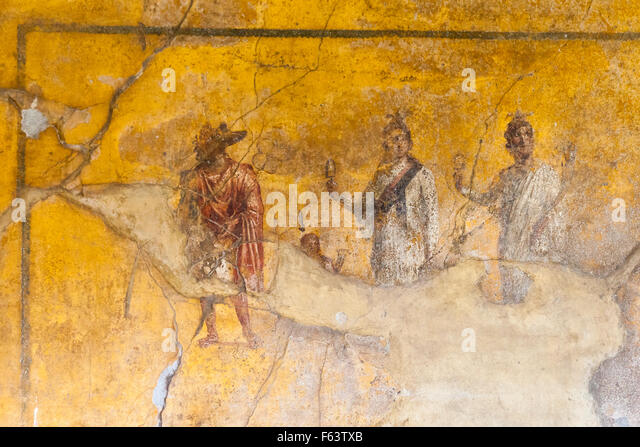 Fresco pompeii stock photos fresco pompeii stock images for Ancient roman mural