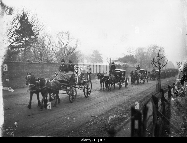 Funeral of industrialist, John Marston, Wolverhampton, 1918. - Stock Image