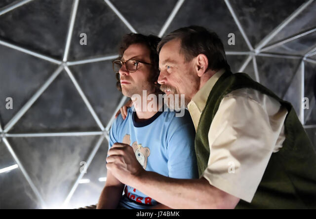 BRIGSBY BEAR 2017 Sony Pictures Classics film with Mark Hamill at left and Kyle Mooney - Stock-Bilder