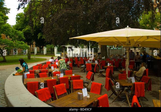 Cafe restaurant at Kulturen the open air museum in Lund Skåne Sweden Europe - Stock-Bilder