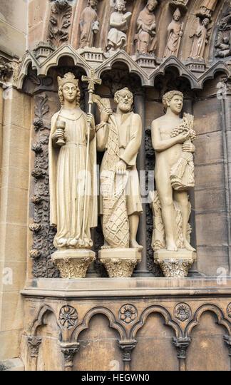 Stone Mason Carving Religious Statue Stock Photos & Stone ...