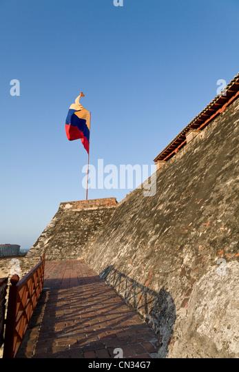 Castillo San Felipe de Barajas, Cartagena, Colombia - Stock Image