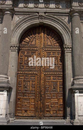 Metropolitan Cathedral historic center Mexico City - Stock Image