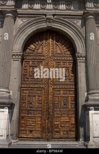 Metropolitan Cathedral historic center Mexico City - Stock Image