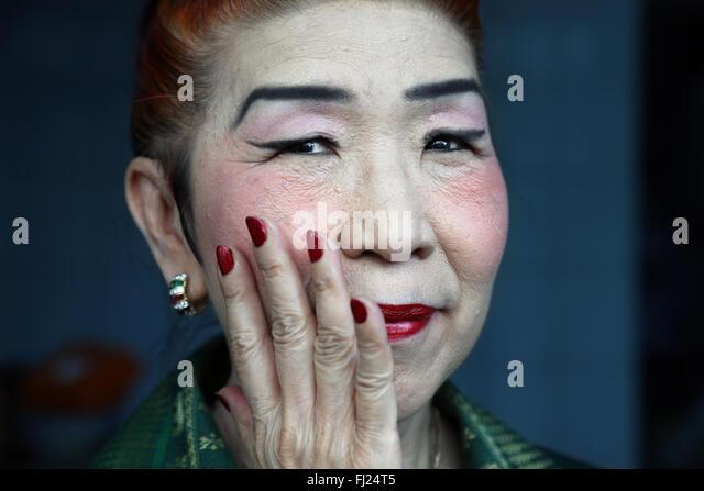 Portrait of people of Myanmar - Burmese people - Stock Image