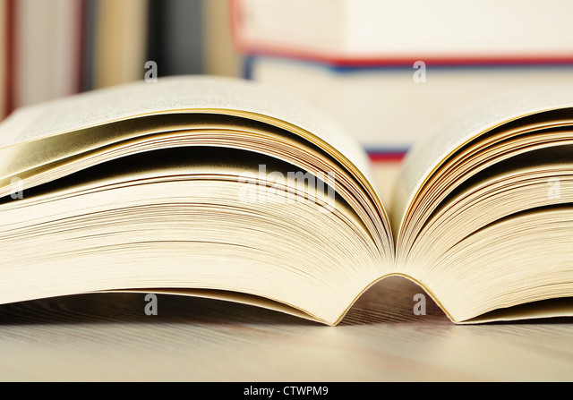 Composition with books on the table - Stock Image