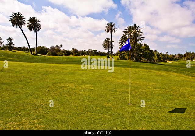 Golf course, Djerba, Tunisia - Stock Image