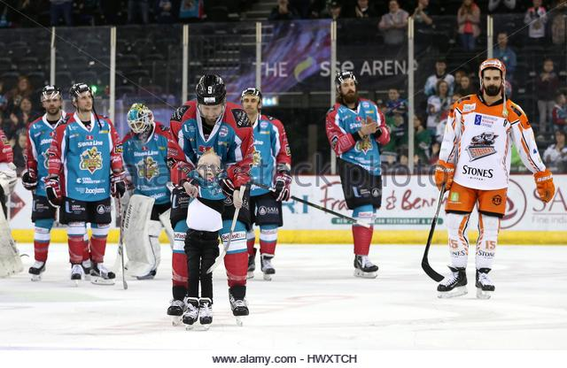 Undated handout photo issued by Belfast Giants of Blake McCaughey, who has been named as Elite League Player of - Stock Image