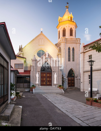 Motomachi Catholic Church. The church dates back to 1877. - Stock-Bilder