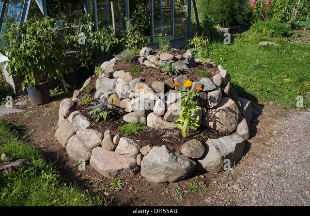 Herb Garden Spiral - Stock Image