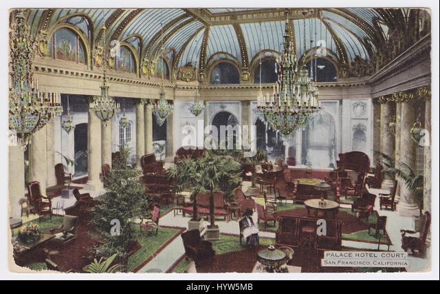 Hotel Palace, San Francisco, United States, Garden Court - Stock Image