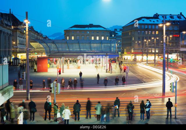 Bern train station, Bern, Switzerland, Europe - Stock Image