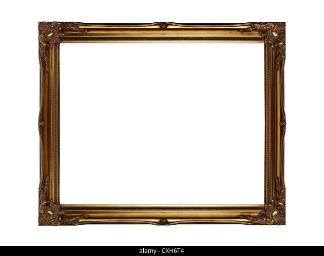 Gold picture frame - Stock Image