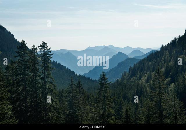 Mountain Range, Inntal Valley, Bavarian Alps, Germany - Stock-Bilder