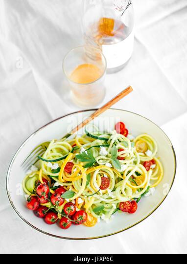 Spiralized zucchini - Stock Image