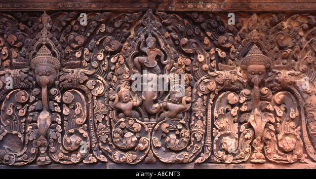 Indra, Banteay Srei, Angkor, Cambodia - Stock Image