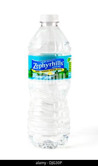 Bottle of Zephyrhills pure spring water, Florida, USA - Stock Image