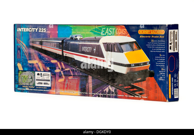 Vintage Hornby Railways 'Intercity 225' electric model railway set (R824) - Stock-Bilder