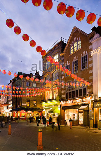 Chinatown, with Chinese New Year celebrations - Stock Image
