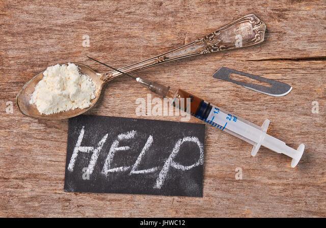 How to overcome drug addiction. - Stock Image