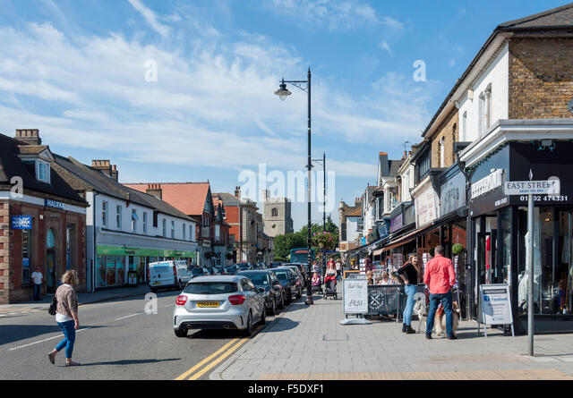 Broadway, Leigh-on-Sea, Essex, England, United Kingdom - Stock Image