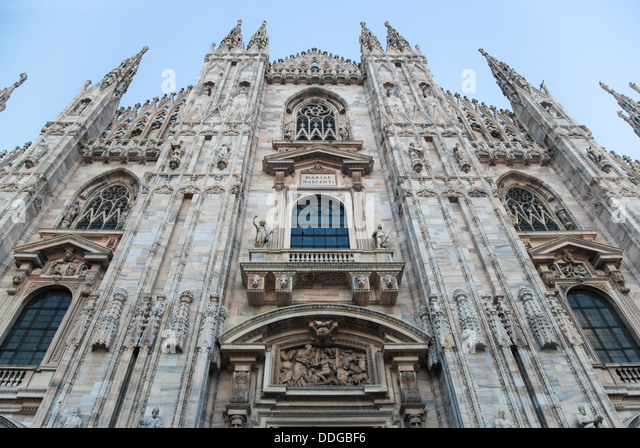 Milan Cathedral at Piazza del Duomo, Lombardy, Italy. - Stock Image