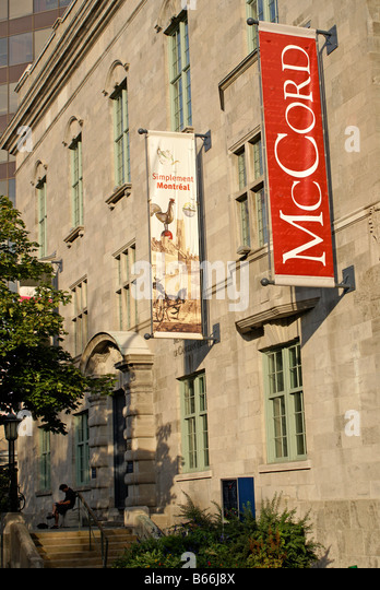 The McCord Museum of Canadian History on Sherbrooke Street, Montreal, Quebec, Canada - Stock-Bilder