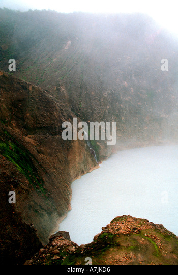 Dominica West Indies Caribbean Boiling Lake - Stock Image