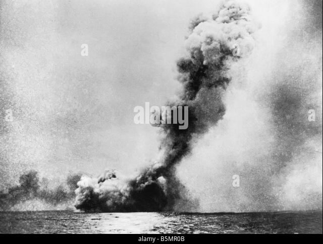 9 1916 5 31 A1 16 E Battle of Jutland 1916 Photo World War 1 1914 18 Naval battle of Jutland Skagerrak 31 5 1 6 - Stock-Bilder