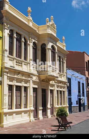Architecture in the capital San Sebastian, La Gomera Island, Canary Islands, Spain, Europe - Stock-Bilder