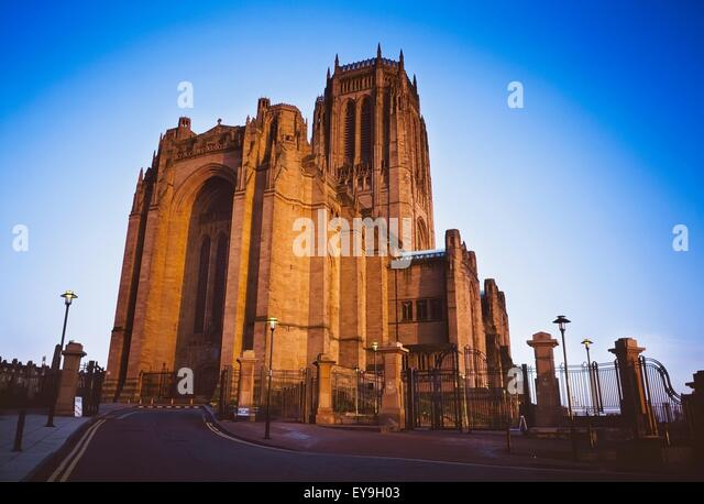 Liverpool Cathedral, Liverpool, England; 20Th Century Anglican Cathedral - Stock Image