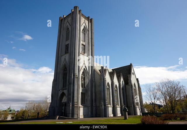 Landakotskirkja catholic cathedral Reykjavik iceland - Stock-Bilder